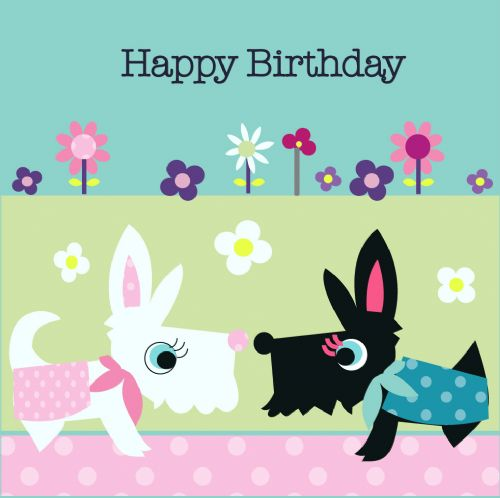 Happy Birthday Card - Bailey and friend